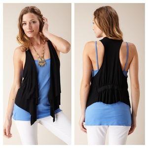 RACHEL PALLY - NWOT Cinched Back Vest - Black